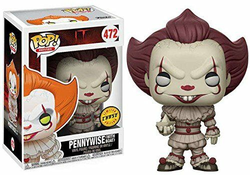 Pop  Movies IT Pennywise (With Boat) CHASE  472 Vinyl Figure Funko