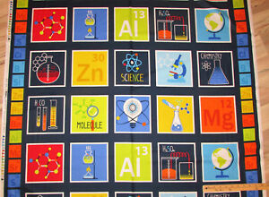 Geek chic science chemistry periodic table chart fabric by the 23 image is loading geek chic science chemistry periodic table chart fabric urtaz Gallery