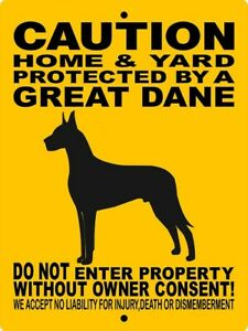 CAUTION PROTECTED BY GREAT DANE 1 DECAL 9 x 9