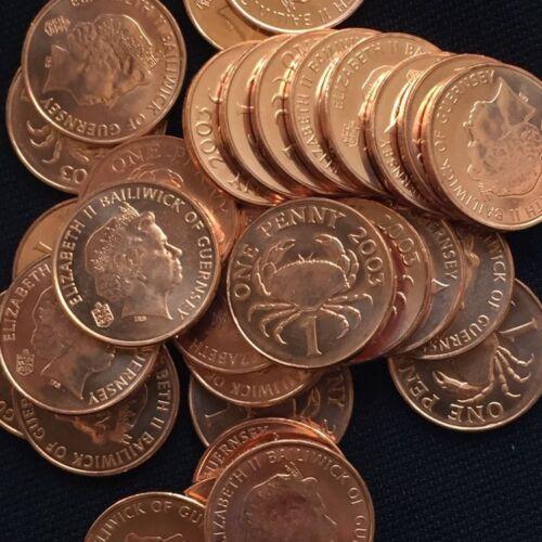 UNC coins Lots Guernsey 1 Penny 2003 km89 10PCS