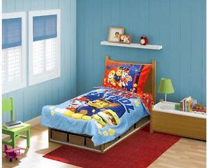 Image Is Loading Paw Patrol 4 Piece Toddler Bedding Sheet Set