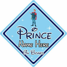 Personalised Disney Prince On Board Car Sign – Sleeping Beauty Prince Phillip