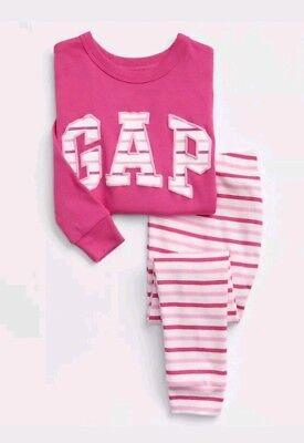 Baby GAP Pajamas Toddler Girl Arch PJ Set Pink White Logo Pick Size