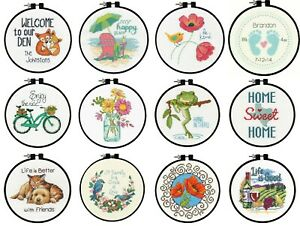 Counted-Cross-Stitch-Kit-With-Hoop-Beginners-Dimensions-Learn-A-Craft