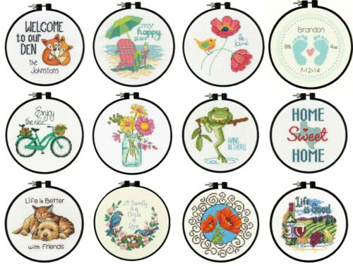 Beginners Counted Cross Stitch Kit With Hoop Learn A Craft Dimensions