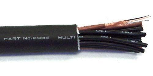 Mogami 8 Pair Multicore W2932 Black Studio Grade Super-flexible BULK Snake Cable