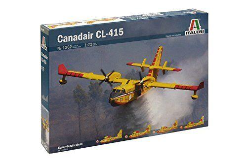 Canadair CL-415 Airplane Plastic Kit 1:72 Model 1362 ITALERI