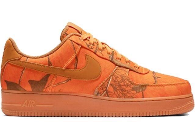 Nike Air Force 1 '07 Lv8 3 Realtree Mens Ao2441 800 Orange Wheat Shoes Size 9