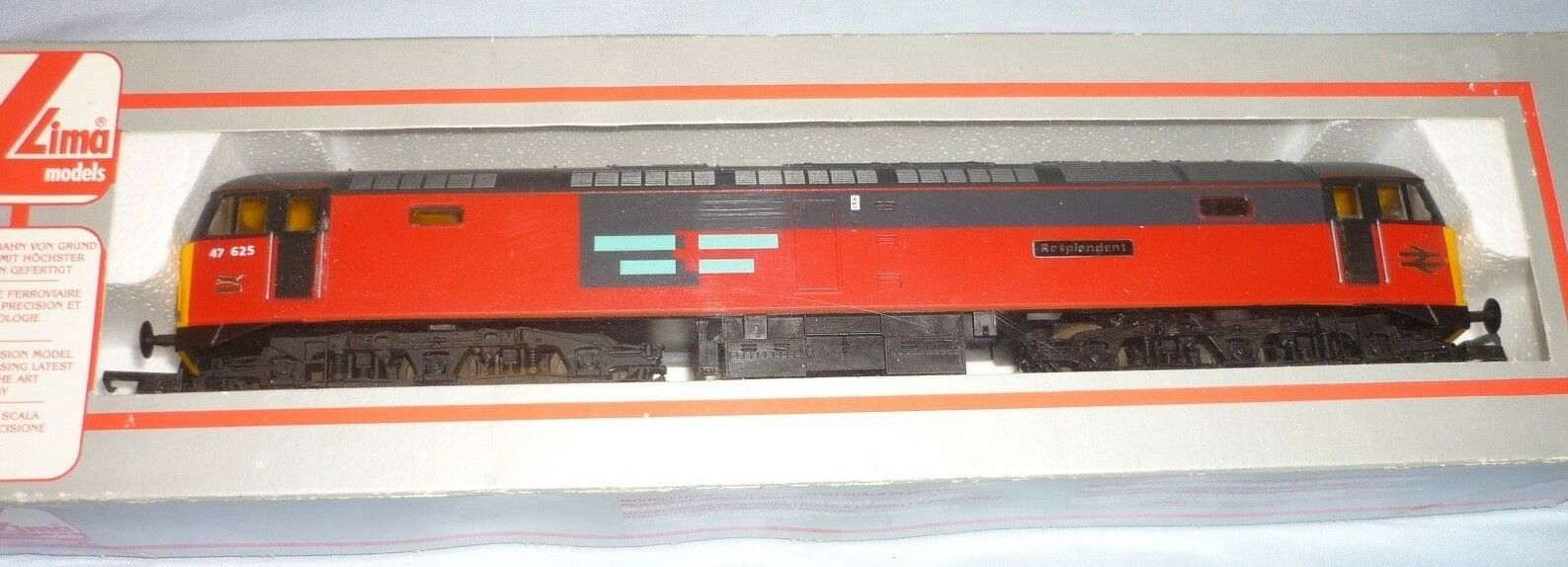 LIMA OO GAUGE BR RES CLASS 47  DIESEL Co-Co LOCO 47625 RESPLENDENT L205205 BOXED