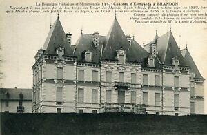BRANDON-LOT-de-2-cartes-sur-le-chateau-d-039-Esmyards