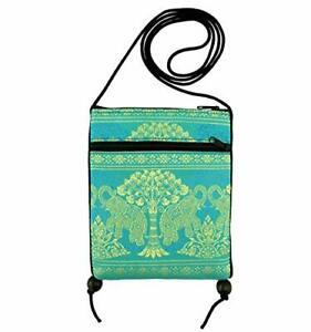 Travel Pouch Neck Passport Holder Elephant Cellphone Mini Cross Body Bag Strap