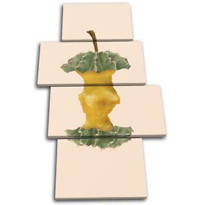Apple-Cactus-Concept-Fruit-Food-Kitchen-MULTI-CANVAS-WALL-ART-Picture-Print