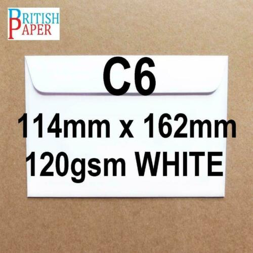 C5 C6 C7 A5 WHITE BROWN KRAFT ENVELOPES PAPER 4 CARDS MINI SMALL LARGE CRAFT LOT