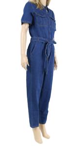 Dorothy-Perkins-NEW-Dark-Wash-Maxi-Denim-Jumpsuit-UK-SIZE-8-EU-36