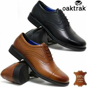 Mens-Leather-Brogues-Smart-Formal-Office-Toe-Cap-Lace-Up-Oxford-Cadet-Work-Shoes
