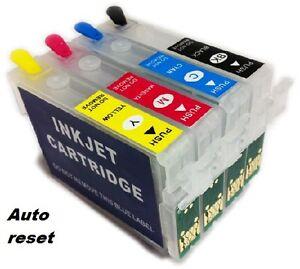 Details about 4 Refillable Non Oem Ink Cartridge For EPSON XP-245 XP-347  XP-335 XP-342 XP-247