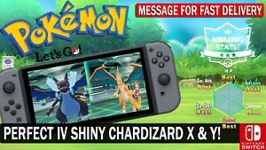 Pokemon-Let-039-s-GO-Shiny-6-IV-Charizard-Jolly-amp-Charizard-Timid-Bundle