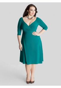 Igigi Women\'s Dress 30 32 Francesca Style Plus Size 5X Green Empire ...