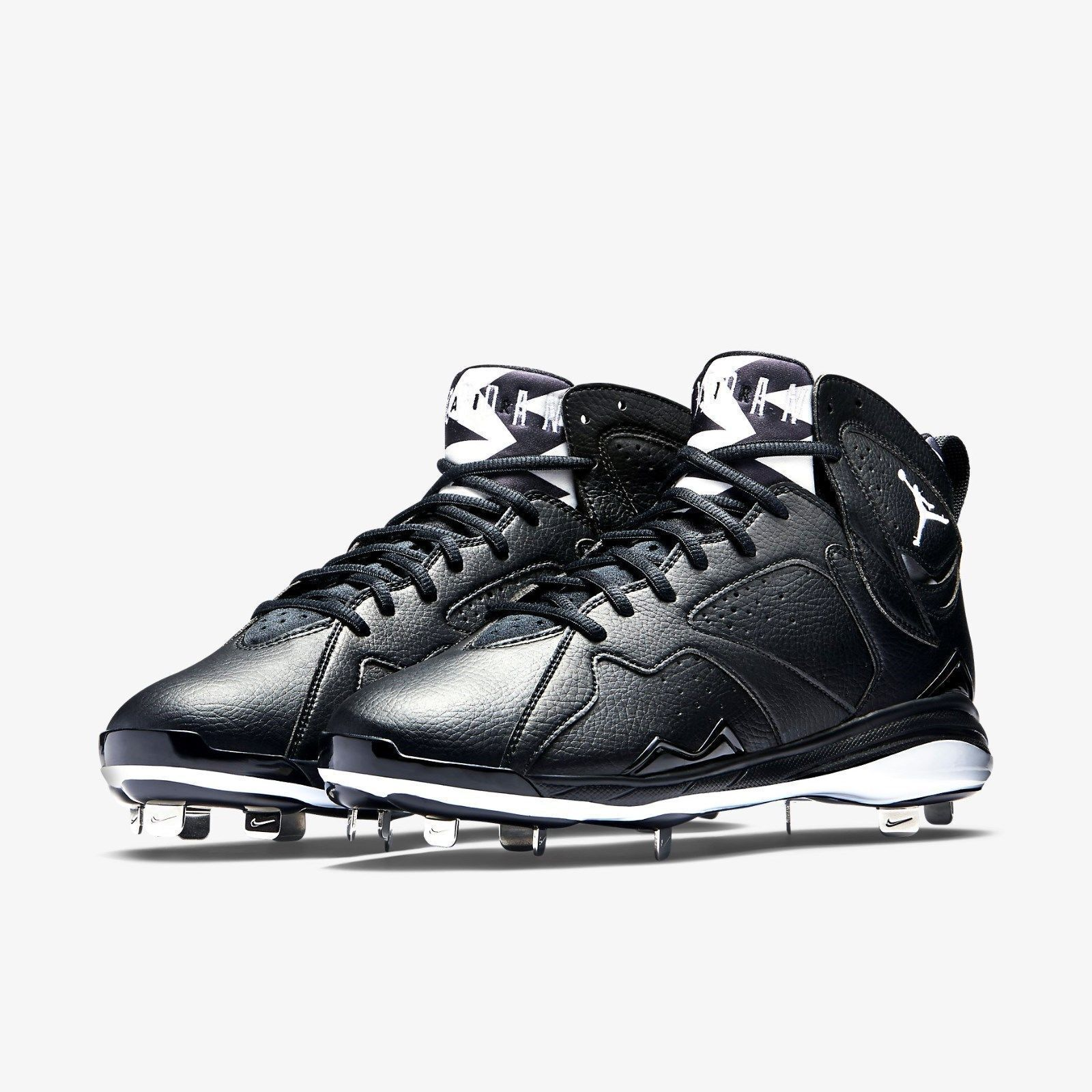 New Mens 14 Nike Jordan Retro 7 VII Metal Leather Cleats shoes Black 684943-010