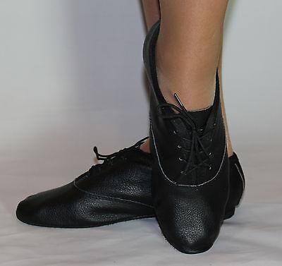 Jazz, danza moderna zapatos de cuero de plena Gamuza Suela De Goma nuevos hijos adultos Negro