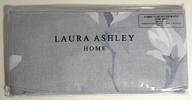 Curtain Tie Backs Pair 100/% Cotton Magnolia Grove Natural Laura Ashley