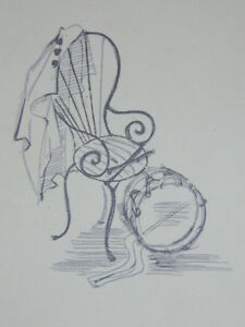 Engraving-Contemporary-Anonymous-La-Chair-Of-Musician-Choose-Drum-Parade