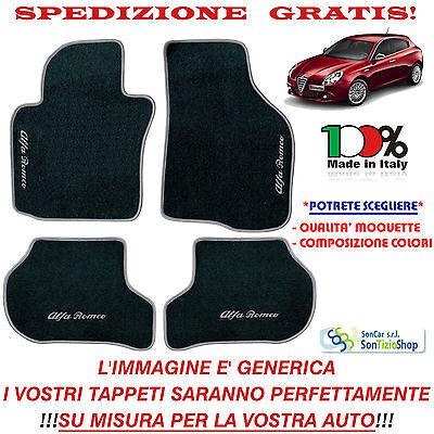 in Moquette per Alfa 159 4 porte Tappeti set completo per Auto MADE IN ITALY