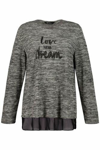 ULLA POPKEN Sweatshirt LOVE and DREAM schwarz NEU