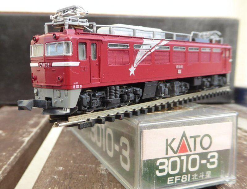 3010-3 Kato escala N eléctrico locomotora EF 81-96 de Japón Jr. muy bueno en caja original