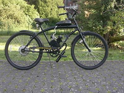 beachcruiser cruiser mit hilfsmotor fahrrad benzin motor dirt pocket bike 49 cc ebay. Black Bedroom Furniture Sets. Home Design Ideas
