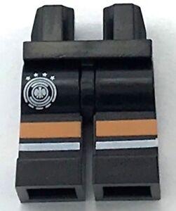LEGO LOT OF 20 MINIFIGURE LEGS TAN STRAPS PATTERN DARK BLUISH GREY HIPS PANTS