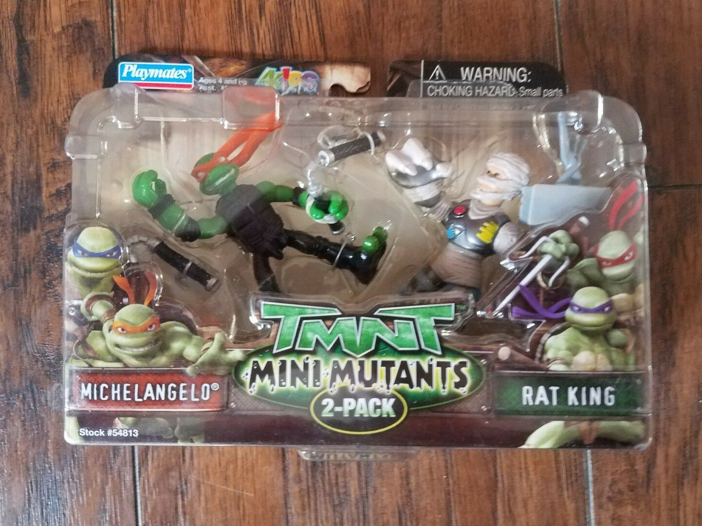 2007 TMNT Mini Mutants Michelangelo vs Rat Rat Rat King Teenage Mutant Ninja Turtles NIB 14a493