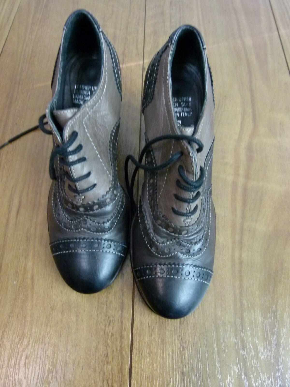 FILIPPO RAPHAEL Heels ankle bottes Sz 35 marron, noir Leather