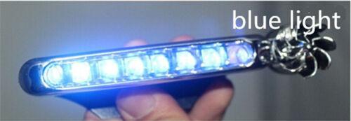 2x Wind Powered 8 LED SMD Car DRL Daytime Running Light Fog Head Bulb Universal