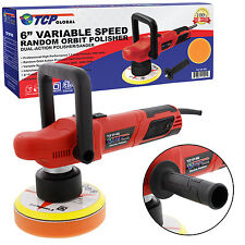 "6"" Variable Speed Random Orbit Dual-Action Polisher, Car Detailing Buff & Polish"