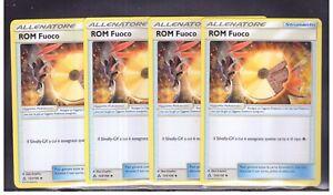 POKEMON-4x-ROM-Fuoco-123-156-Non-Comune-ALLENTAORE-Ultra-Prisma-ITA