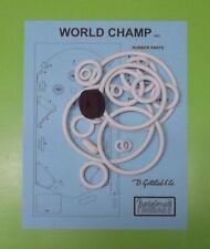 1957 Gottlieb World Champ pinball rubber ring kit