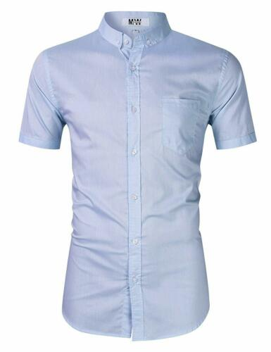 Men/'S Casual Regular Fit Button Down Dress Shirt Cotton Long Sleeve Solid Oxford
