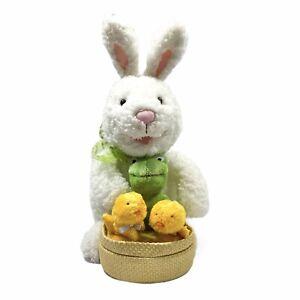 "Hallmark Spring Quartet Plush Sounds And Motion Easter Bunny Frog Chicks 13"""