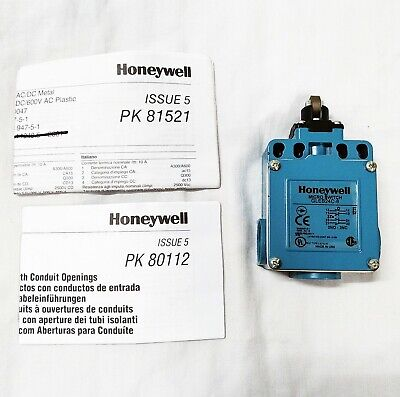NEW IN BOX HONEYWELL MICRO SWITCH ROLLER PLUNGER STYLE LIMIT SWITCH GLEB24C