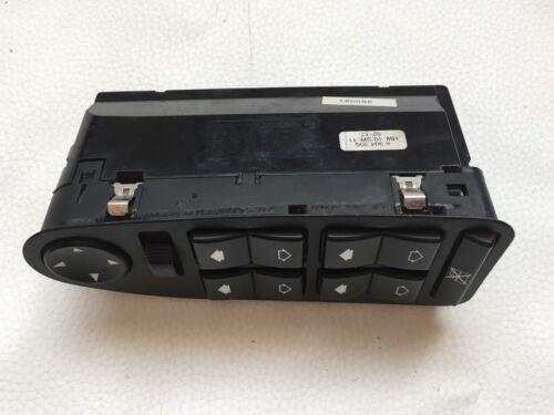 BMW E39 E38 DRIVER MASTER WINDOW CONTROL SWITCH BLACK