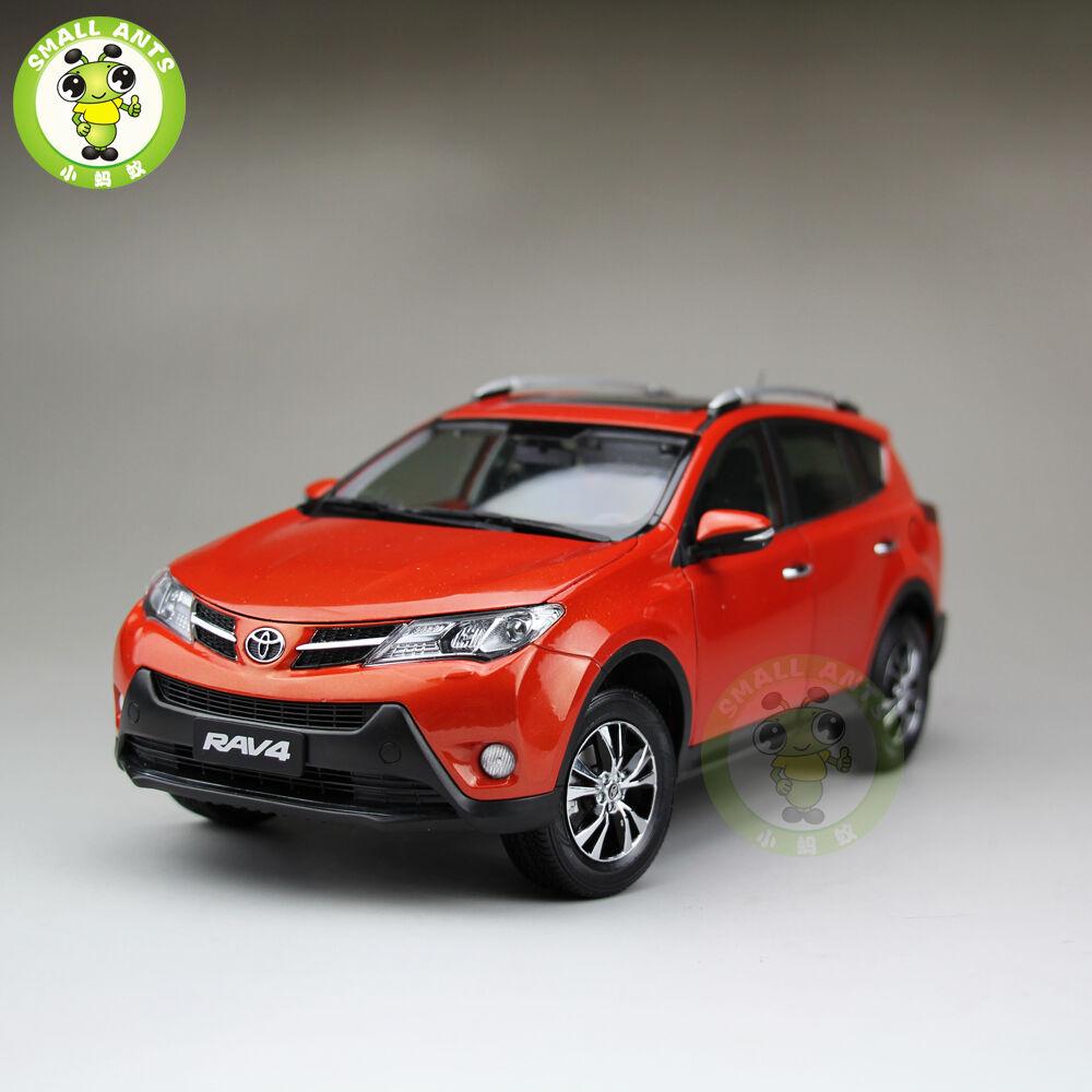 1 18 TOYOTA RAV4 Diecast véhicule utilitaire sport modèle de voiture jouets pour enfants garçon fille eau Orange