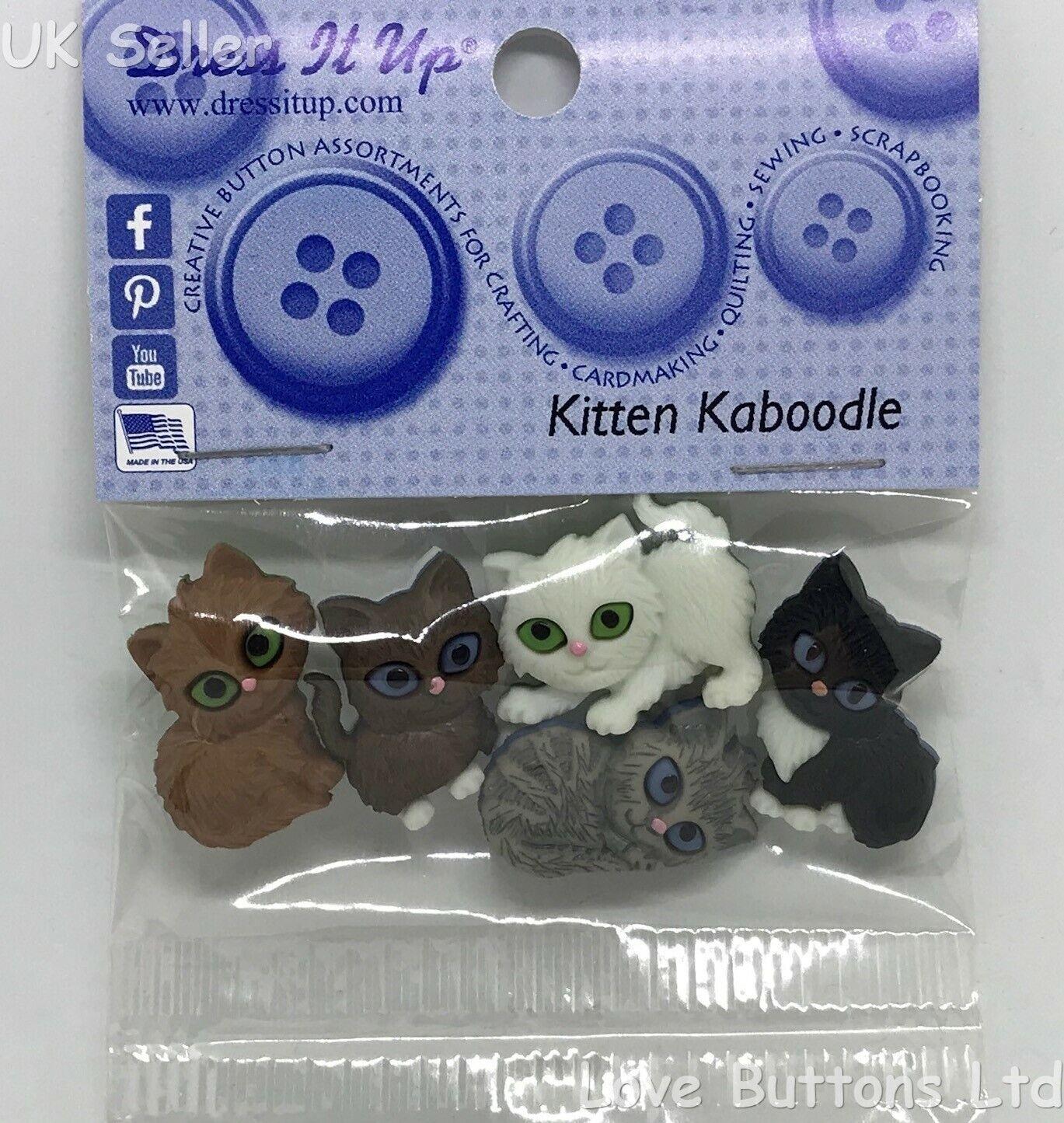 Jesse James Buttons ~ Dress It Up ~ KITTEN KABOODLE 6971 ~ Sewing ~ Scrap Craft
