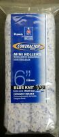 Sherwin Williams Contractor Series Blue Knit 1/2 Nap 6 Mini Rollers Qty 2