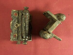 Pair-Of-Antique-Matching-Columbia-Double-Acting-Spring-Hinges-Victorian-Eastlake
