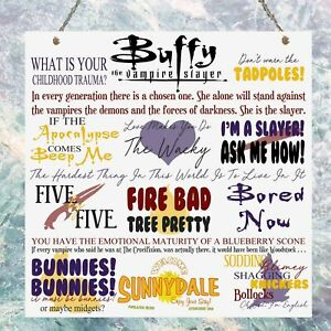Buffy the Vampire Slayer TV Show Quotes Plaque Birthday Gift Metal Plaque Sign