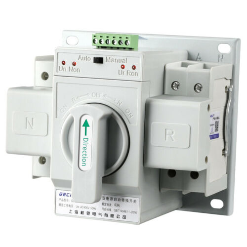 2P 63A 220V MCB type Dual Power Automatic transfer switch ATS