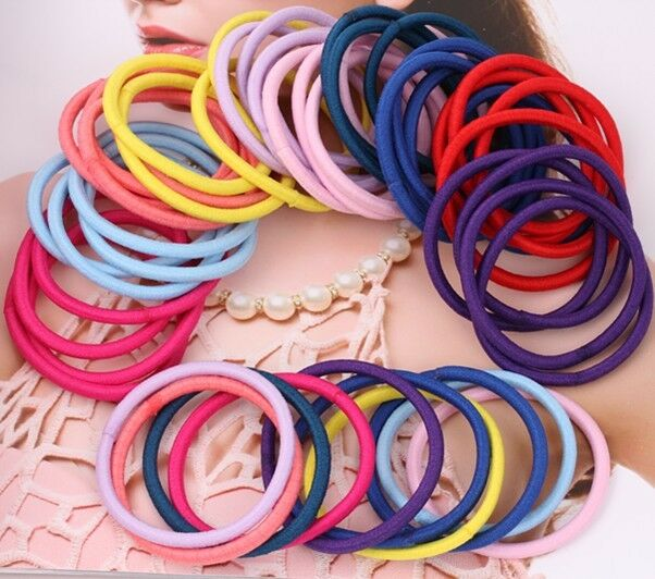 Fashion Korean Girl Multicolor Elastic Hair Band Rope Scrunchie Ponytail Holder