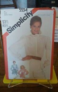 Oop-Simplicity-5534-misses-blouse-detach-standup-collar-ruffled-sz-10-NEW