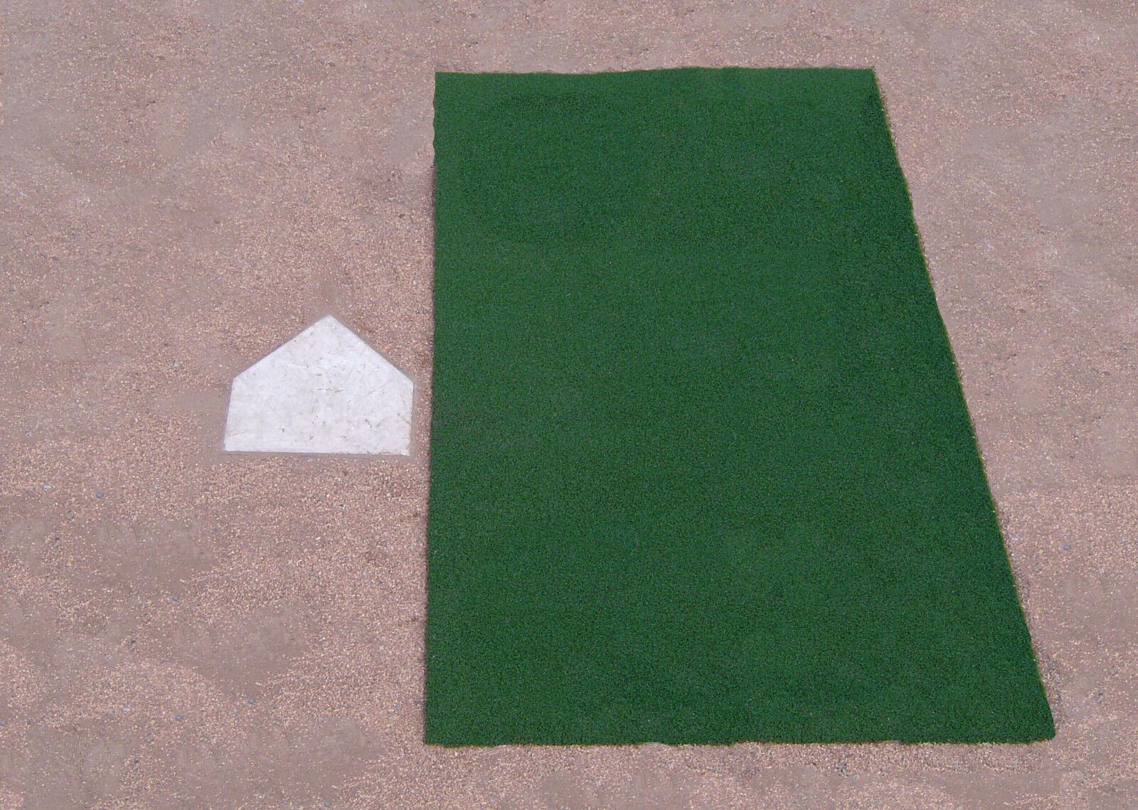 4' x 6' Green Baseball Softball Hitting Stance Batting Practice Cage Field Mat
